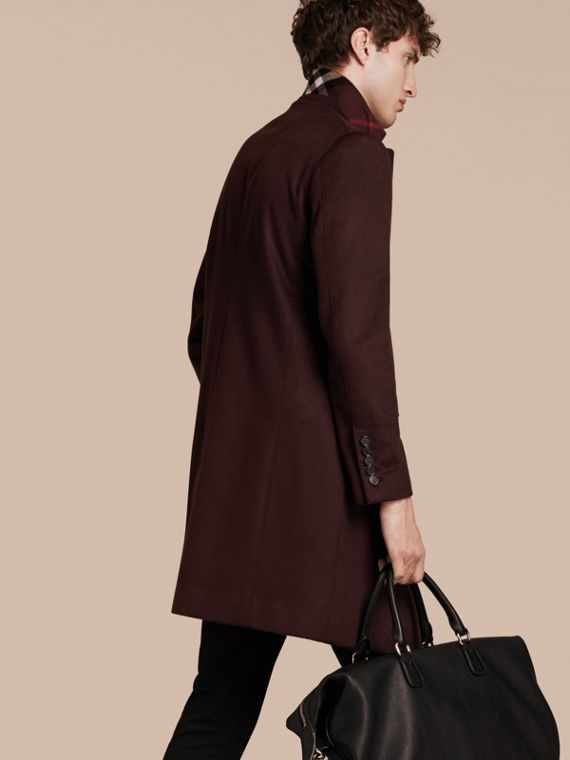 Plum Cashmere Overcoat - cell image 2