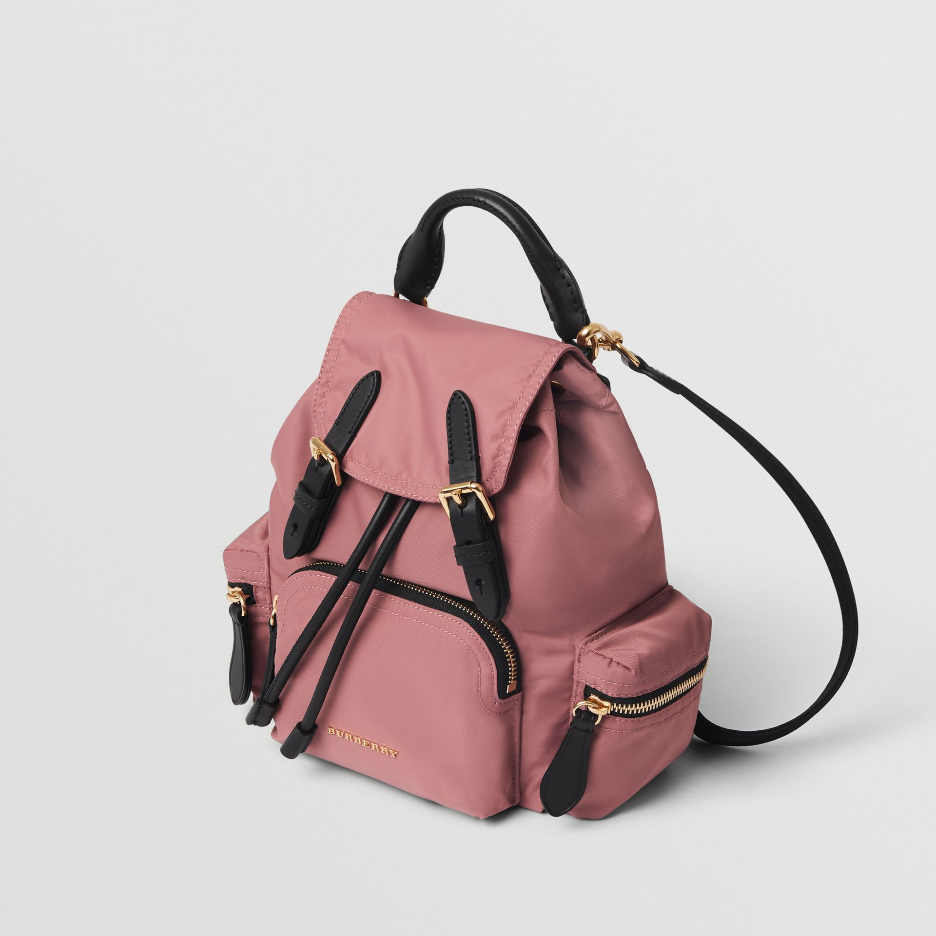 The Small Crossbody Rucksack in Nylon in Mauve Pink - Women | Burberry Canada - gallery image 4
