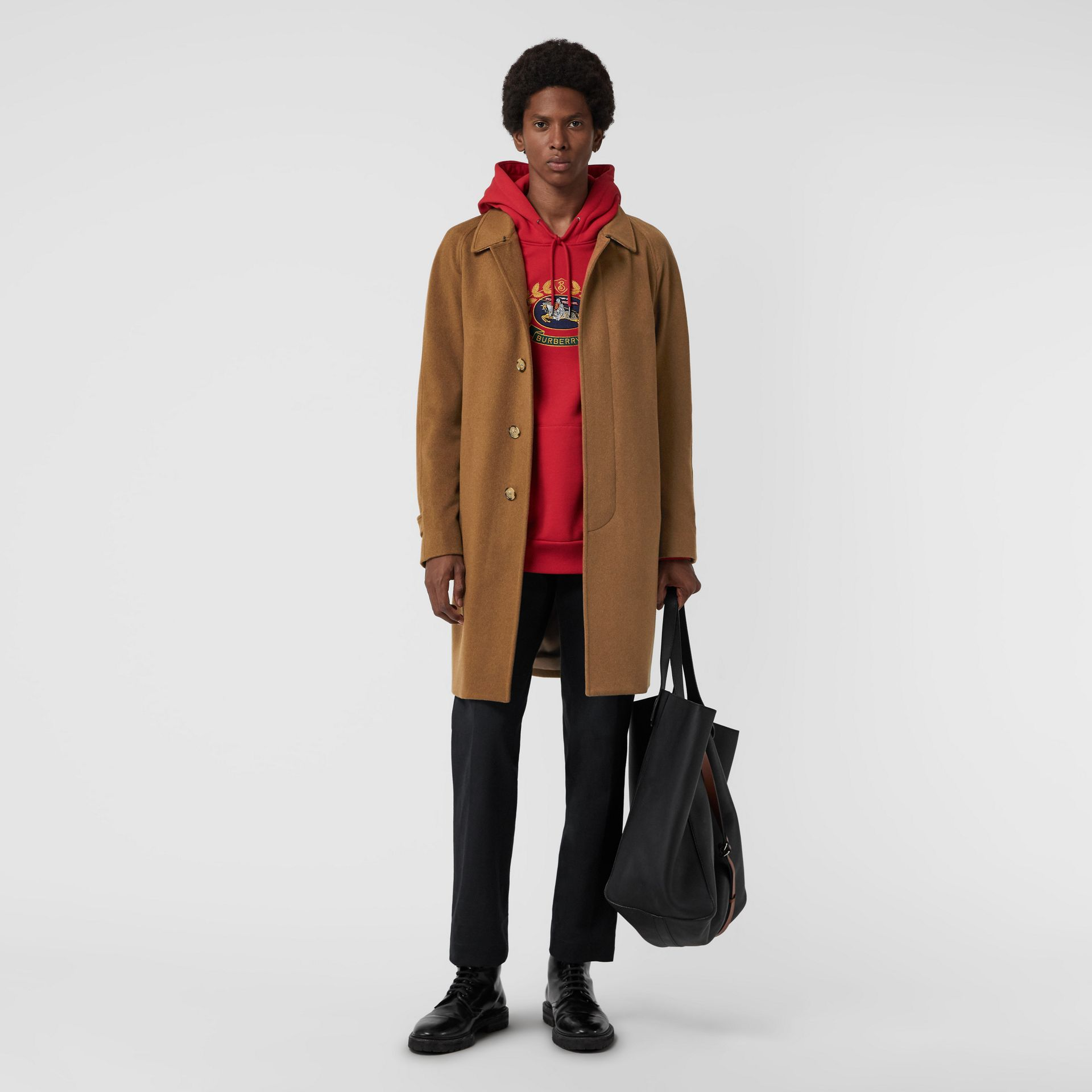 Cashmere Car Coat in Dark Camel - Men | Burberry United Kingdom - gallery image 0