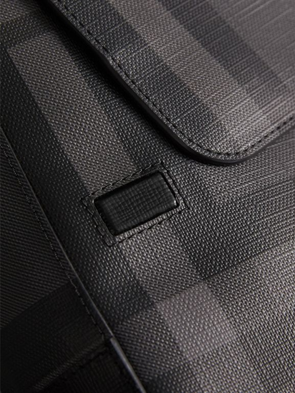 London Check Crossbody Bag in Charcoal/black - Men | Burberry Canada - cell image 1