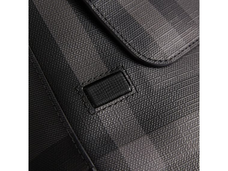London Check Crossbody Bag in Charcoal/black - Men | Burberry United States - cell image 1
