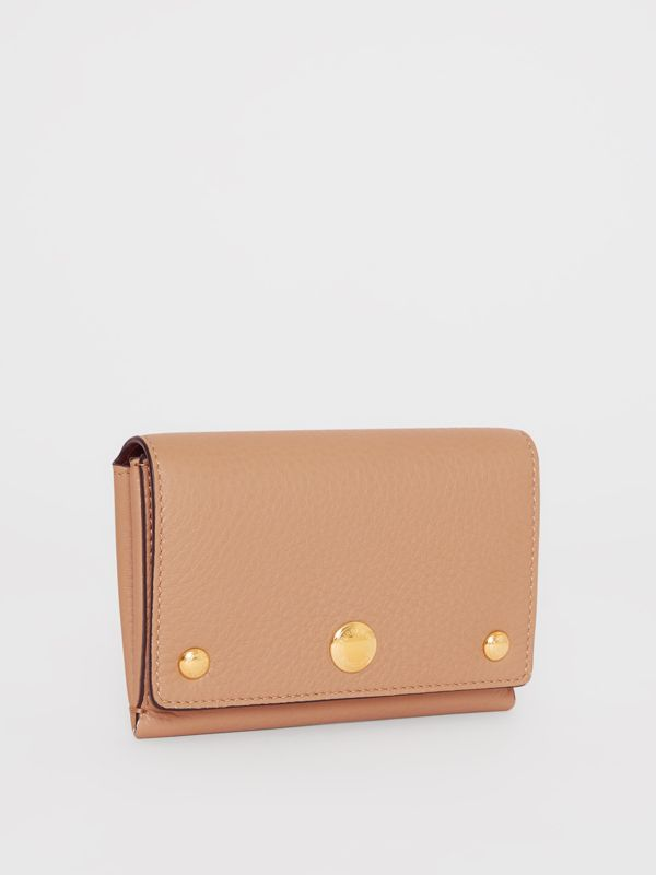 Triple Stud Leather Folding Wallet in Light Camel - Women | Burberry United Kingdom - cell image 3