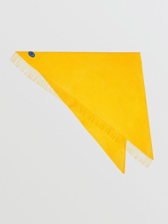 The Burberry Bandana in cashmere con ricamo (Giallo Ginestrone)