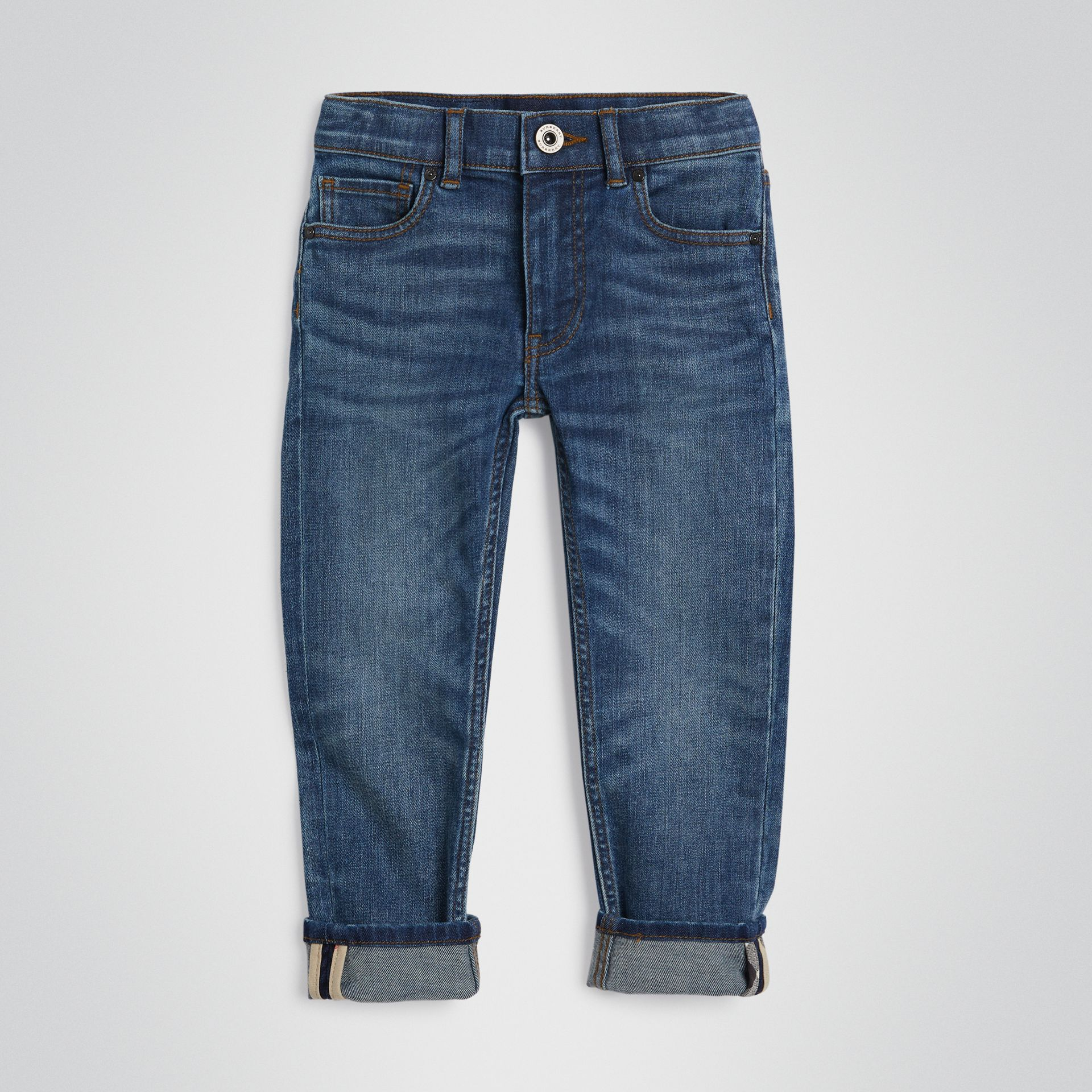 Skinny Fit Stretch Jeans in Mid Indigo | Burberry - gallery image 0