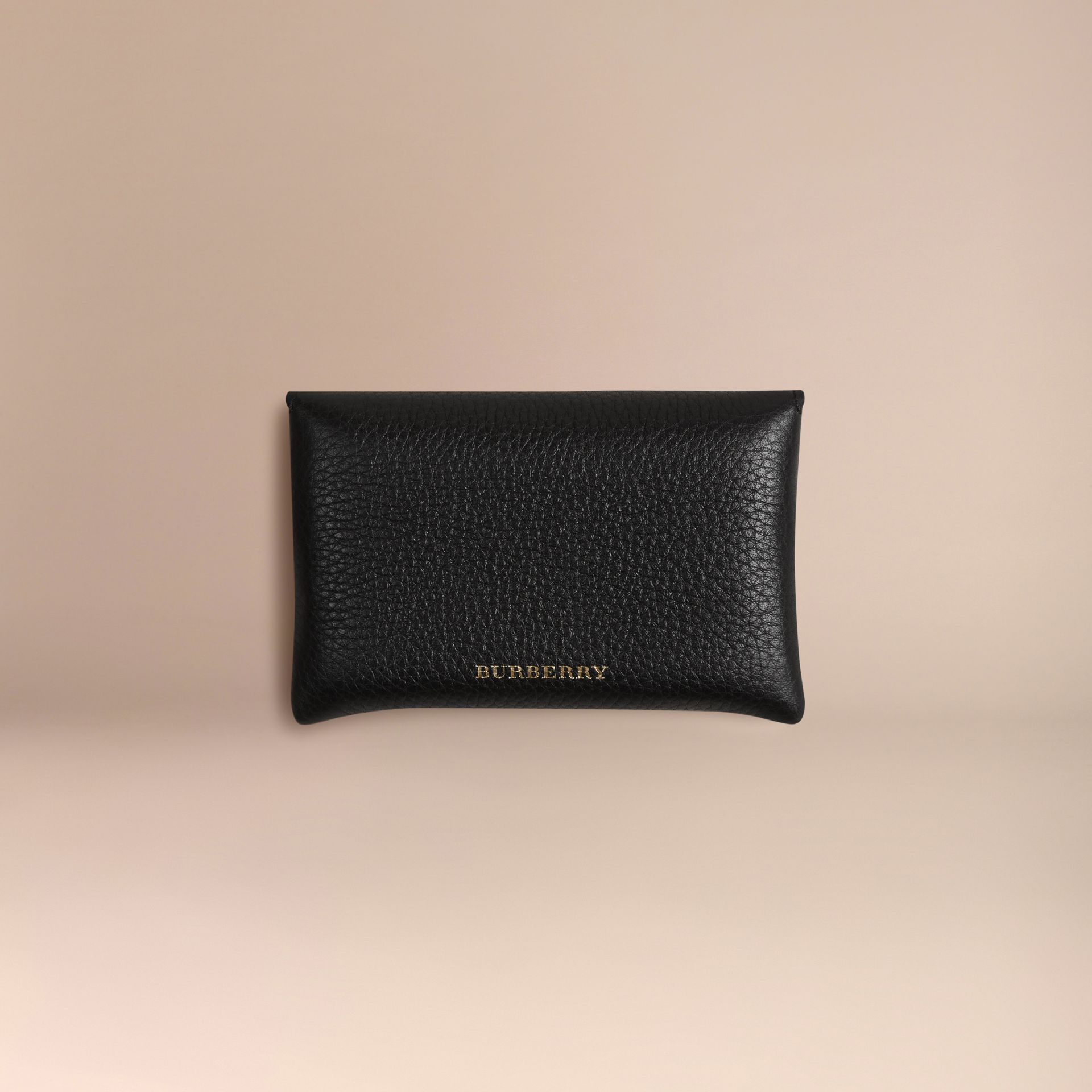 Grainy Leather Playing Card Case in Black | Burberry - gallery image 4