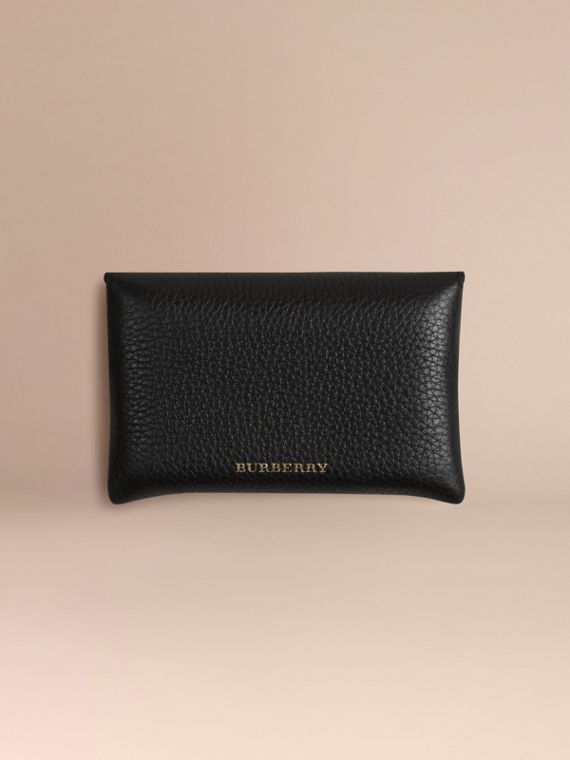 Grainy Leather Playing Card Case in Black | Burberry Canada - cell image 3