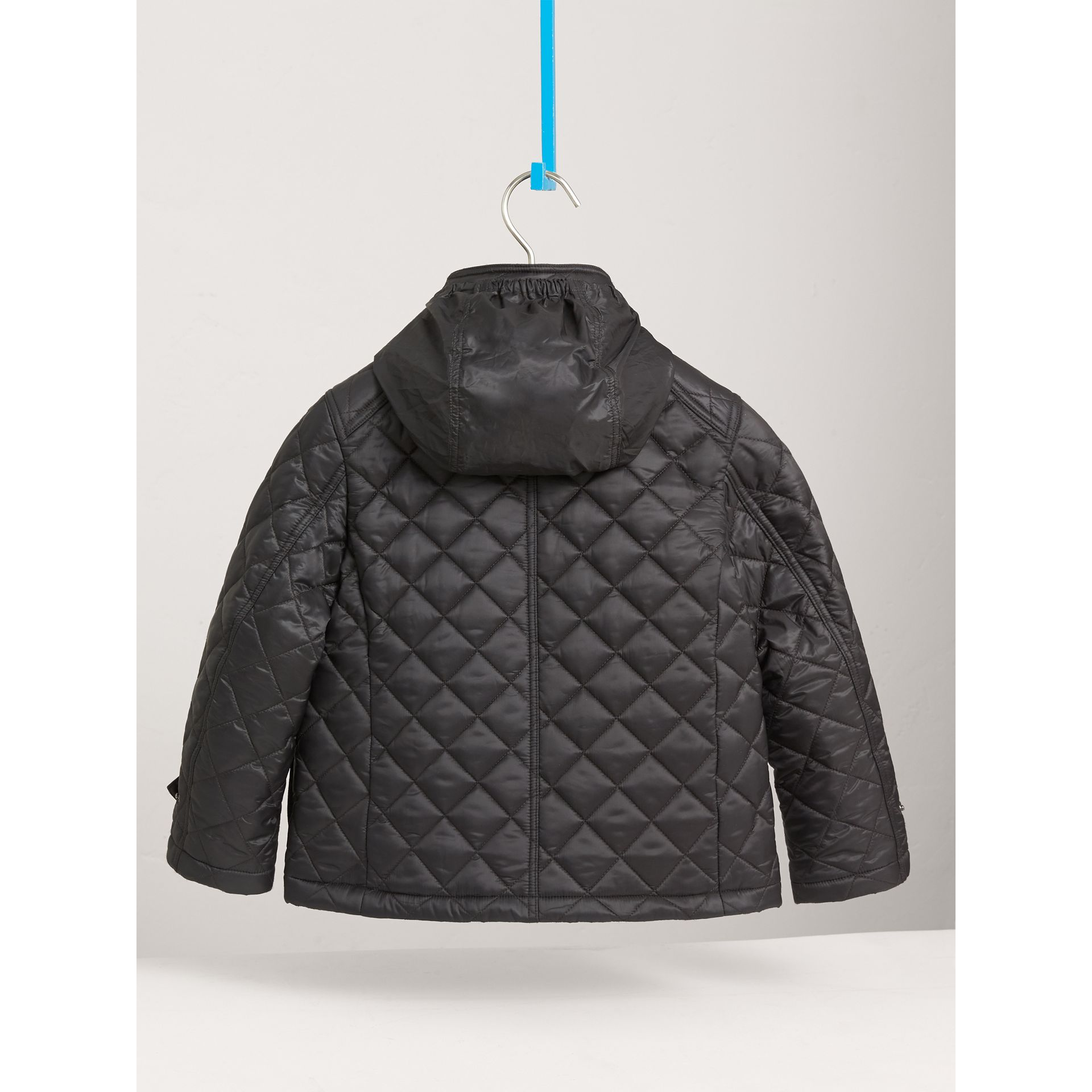 Diamond Quilted Field Jacket in Dark Grey - Boy | Burberry - gallery image 4
