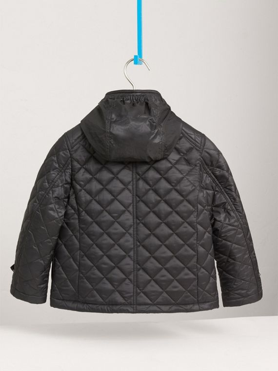 Diamond Quilted Field Jacket in Dark Grey - Boy | Burberry - cell image 3