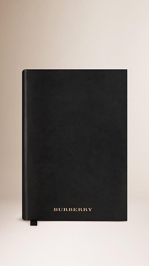 Black Medium Sartorial Leather Notebook - Image 1
