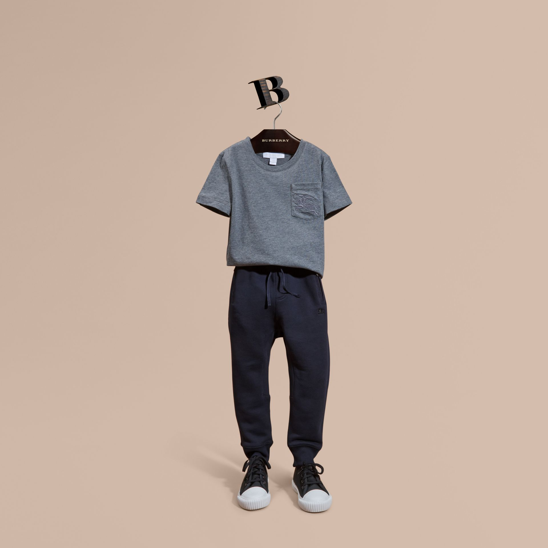 Dark navy Cotton Sweat Pants Dark Navy - gallery image 1