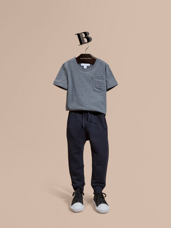 Cotton Sweat Pants Dark Navy