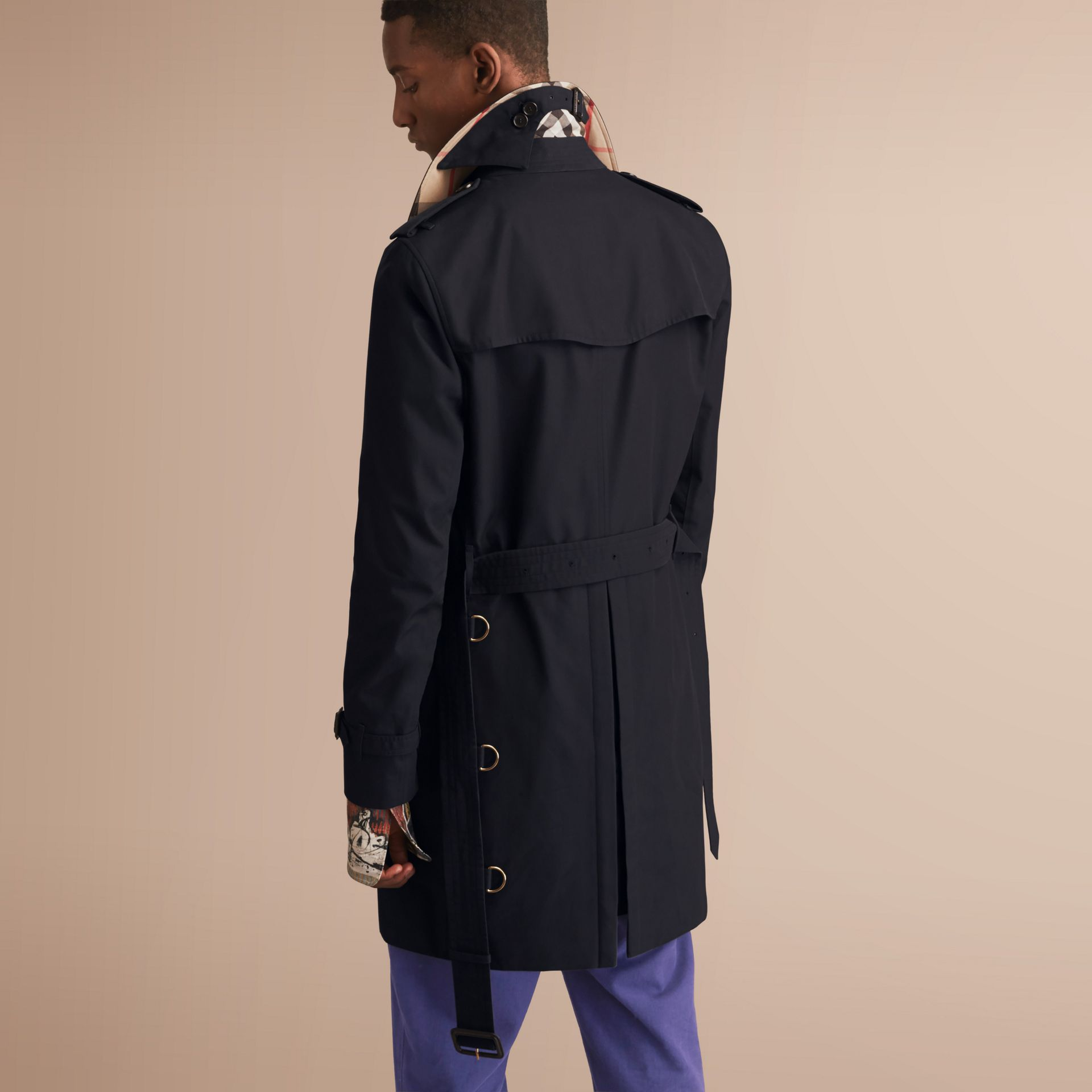 The Sandringham – Long Heritage Trench Coat in Navy - gallery image 3