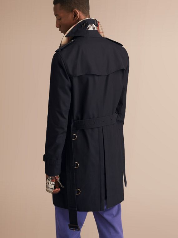 The Sandringham – Long Heritage Trench Coat Navy - cell image 2