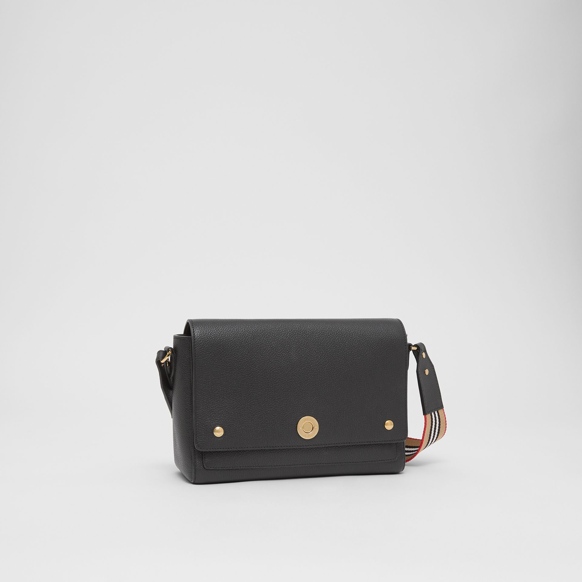 Grainy Leather Note Crossbody Bag in Black - Women | Burberry United Kingdom - gallery image 6