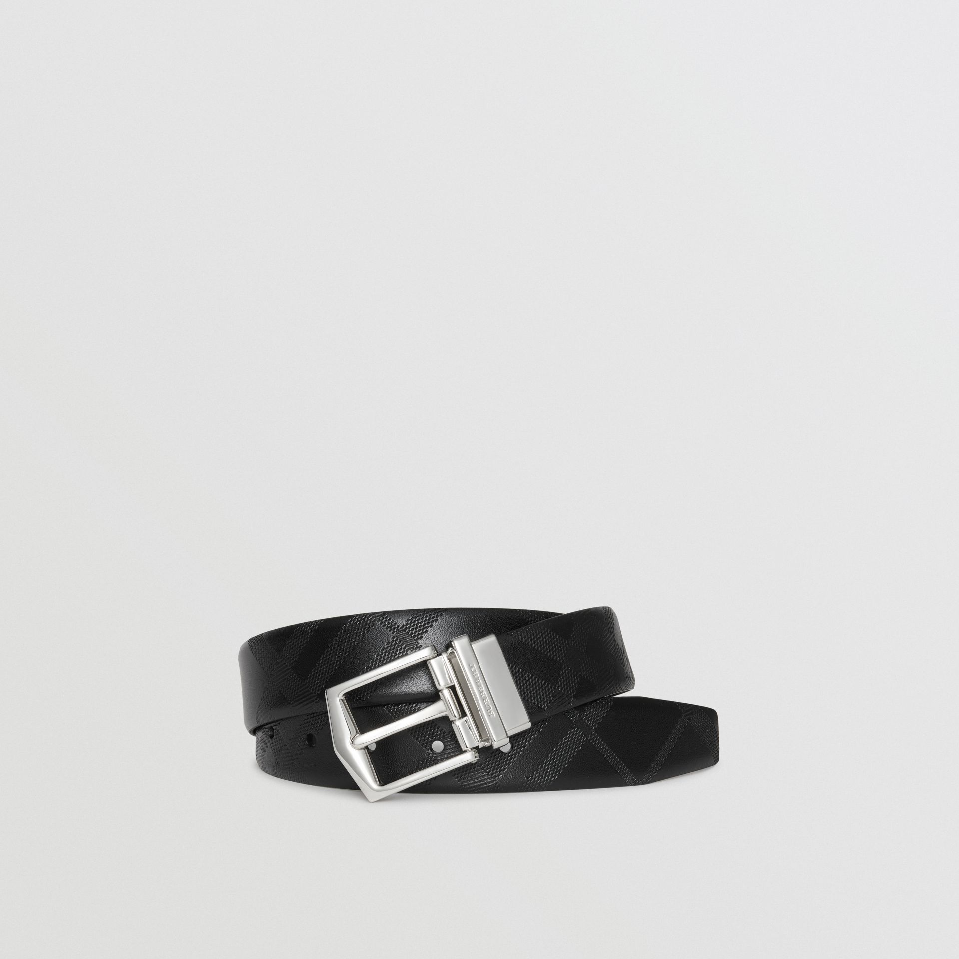 Reversible London Leather Belt in Black - Men | Burberry United States - gallery image 0