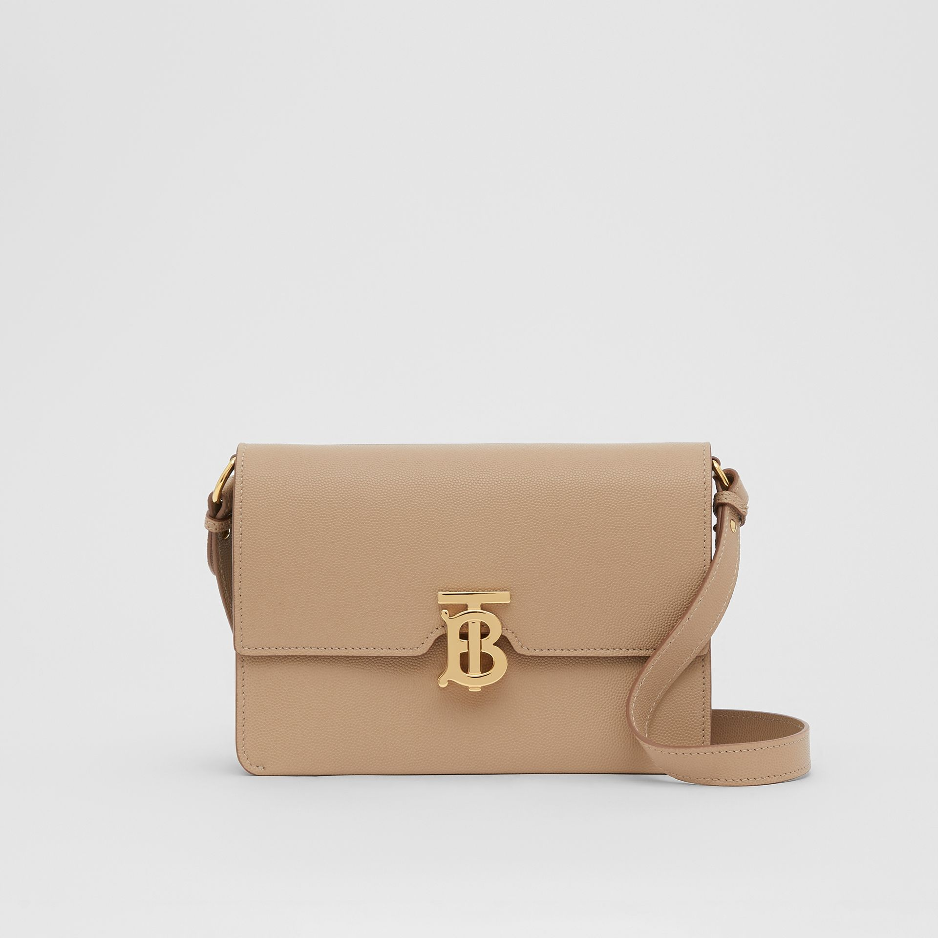 Small Monogram Motif Leather Crossbody Bag in Archive Beige - Women | Burberry Canada - gallery image 0