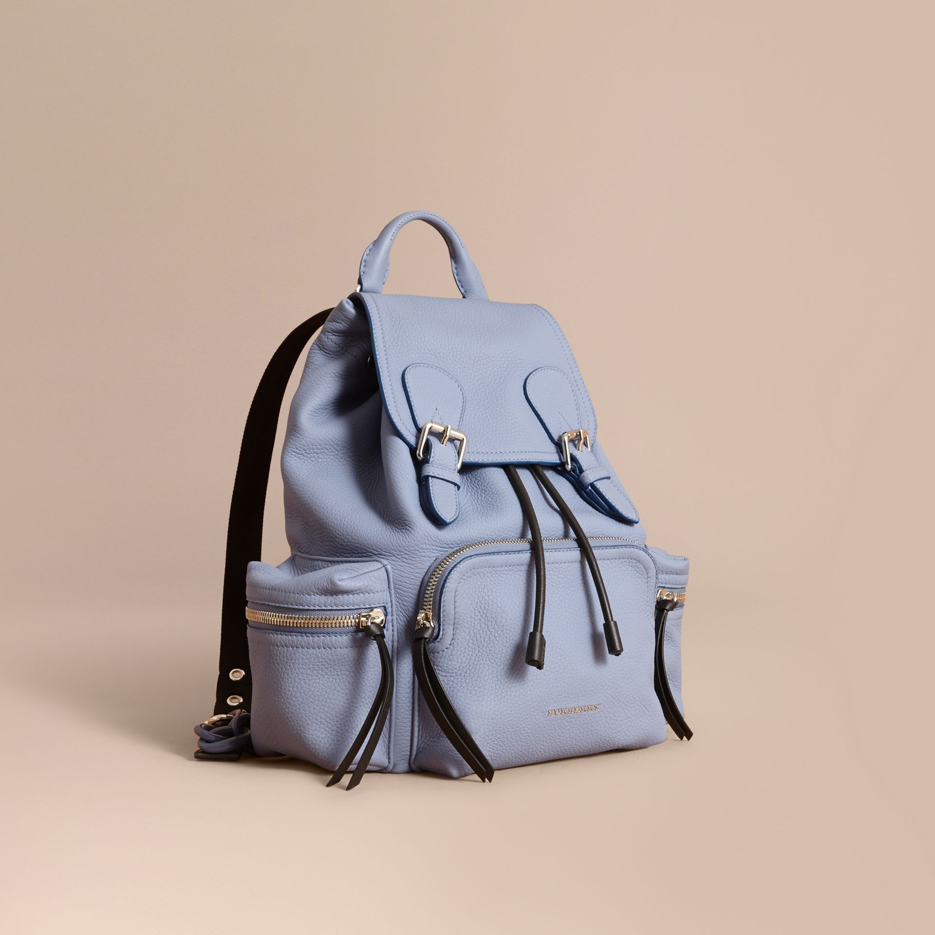 The Medium Rucksack in Deerskin with Resin Chain in Slate Blue - Women | Burberry - gallery image 1