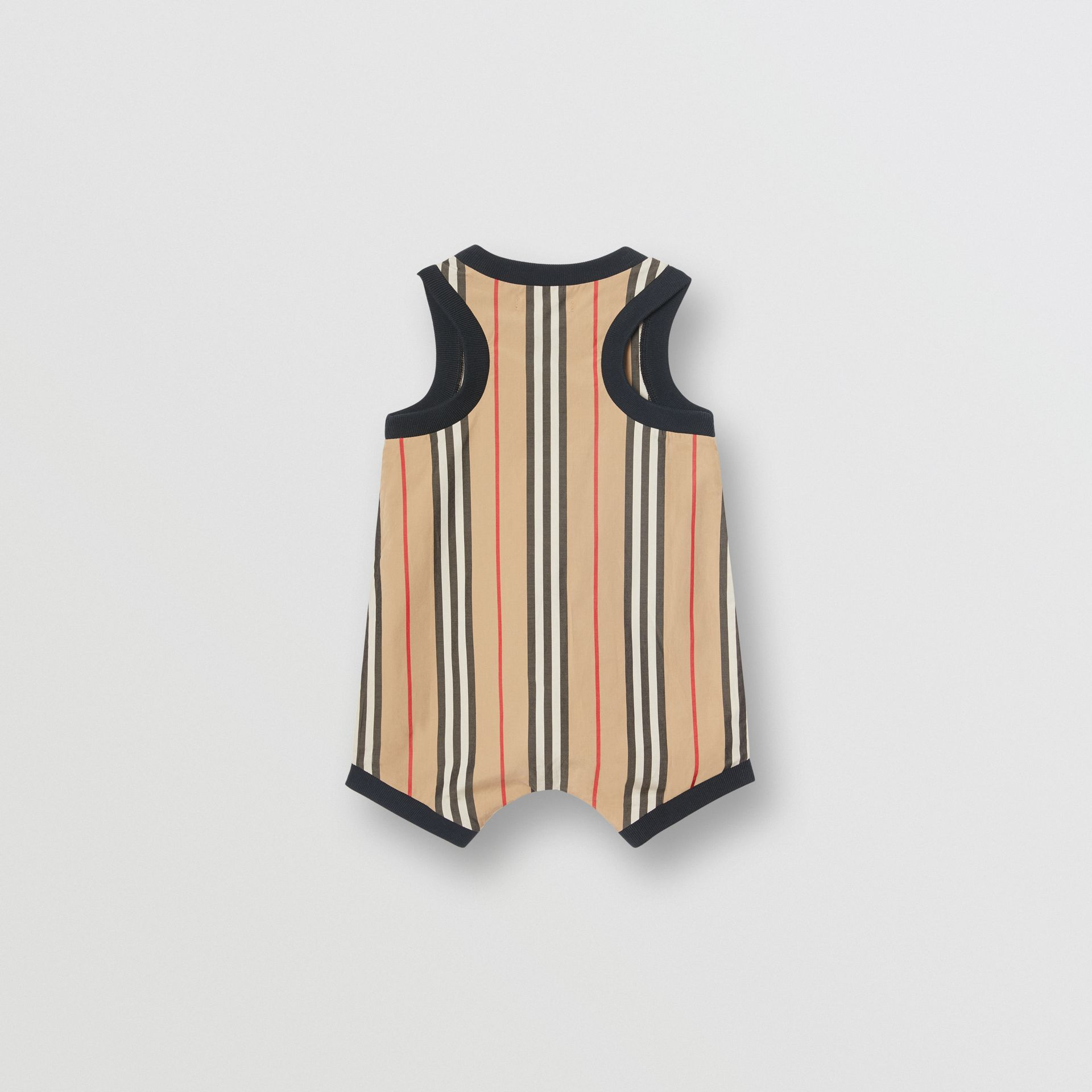 Icon Stripe Cotton Bodysuit in Archive Beige - Children | Burberry United Kingdom - gallery image 4