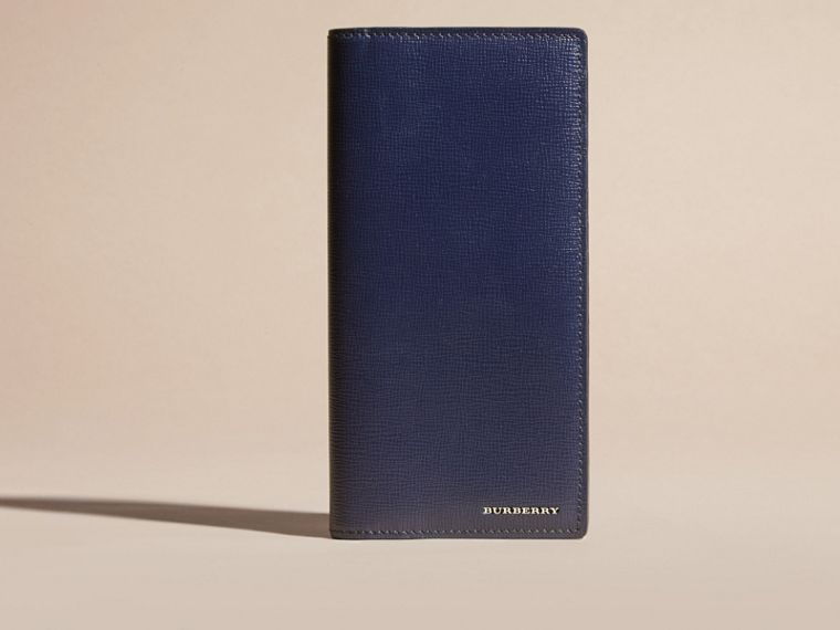 London Leather Continental Wallet in Dark Navy | Burberry United States - cell image 1