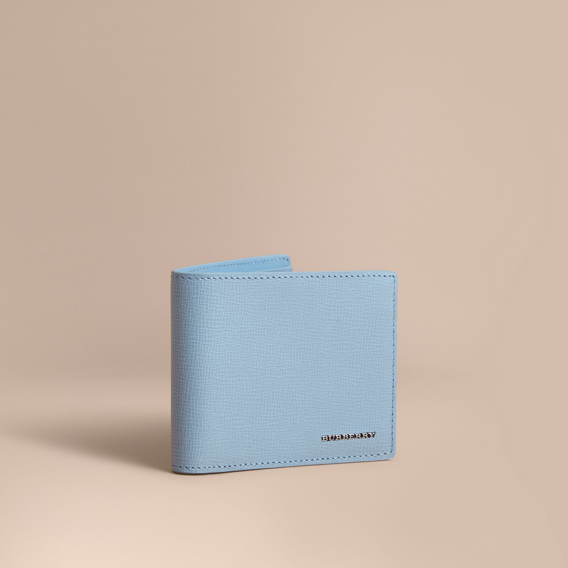 London Leather Bifold Wallet in Powder Blue - gallery image 1