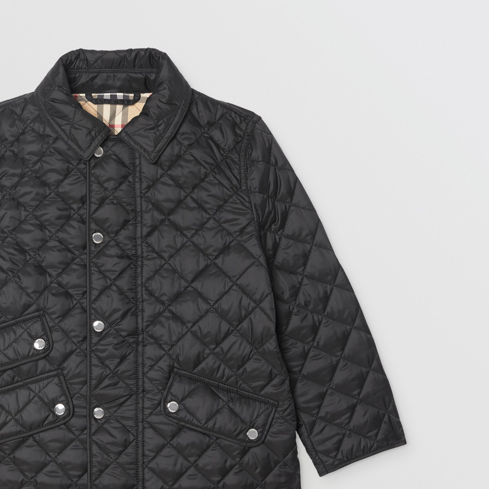 Lightweight Diamond Quilted Jacket in Black | Burberry - gallery image 5