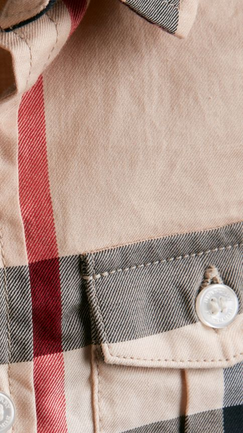 New classic Check Cotton Shirt - Image 2