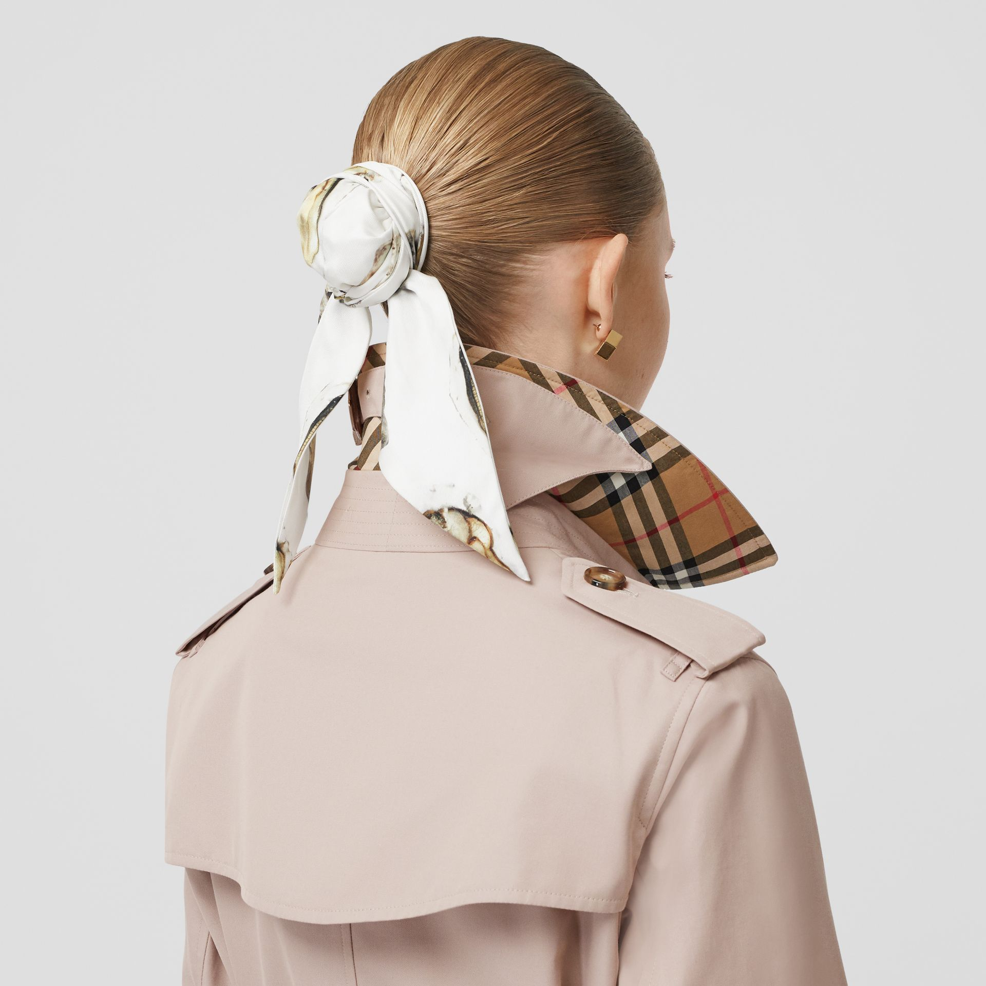Cotton Gabardine Trench Coat in Pale Blush - Women | Burberry - gallery image 1