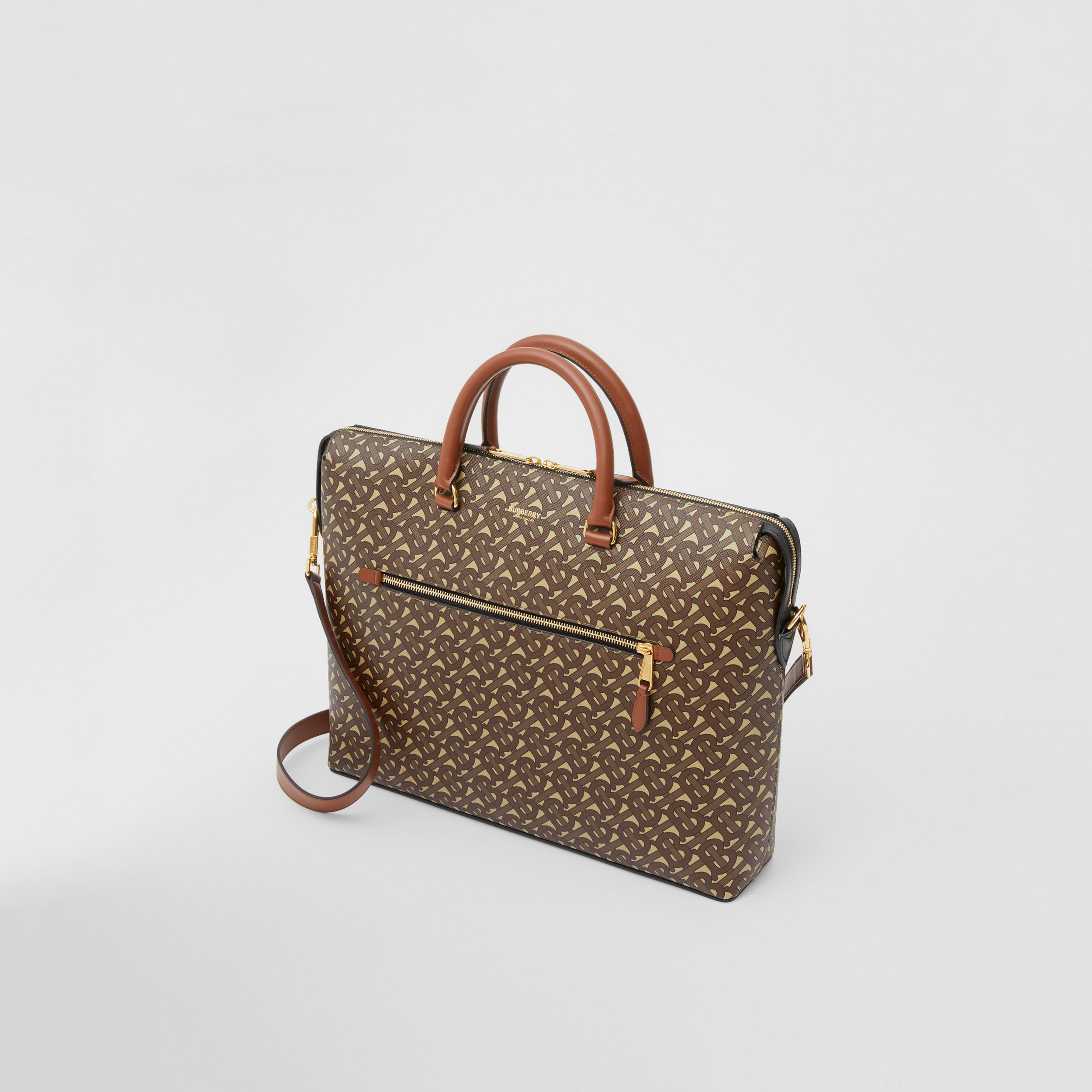 Attaché-case en toile écologique Monogram (Brun Bride) - Homme | Burberry Canada - 4