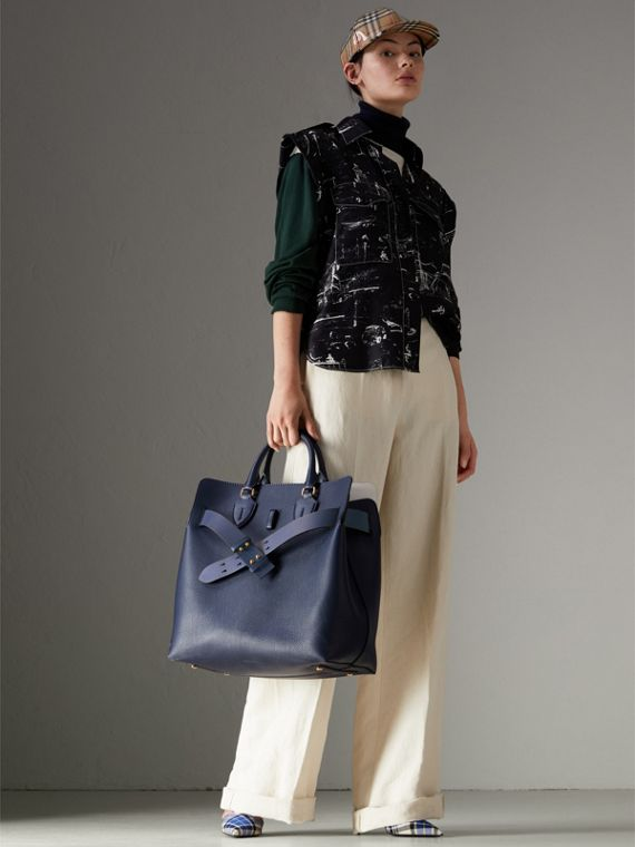 The Large Leather Belt Bag in Regency Blue | Burberry - cell image 2