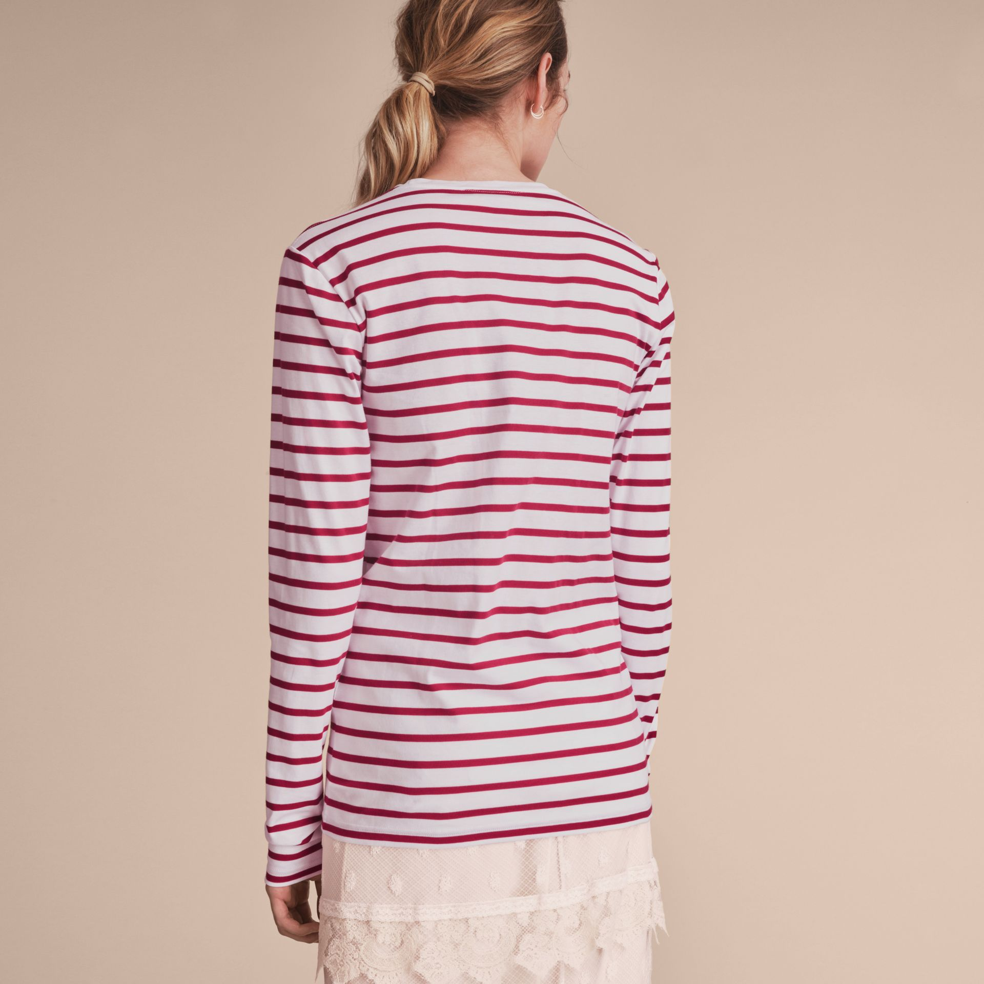 Unisex Pallas Heads Motif Breton Stripe Cotton Top - Women | Burberry - gallery image 5