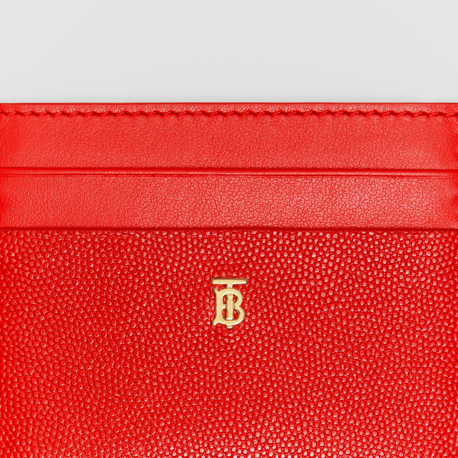 Monogram Motif Leather Card Case in Bright Red - Women | Burberry - gallery image 1