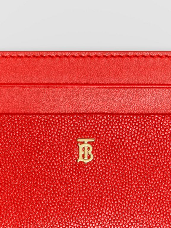 Monogram Motif Leather Card Case in Bright Red - Women | Burberry - cell image 1