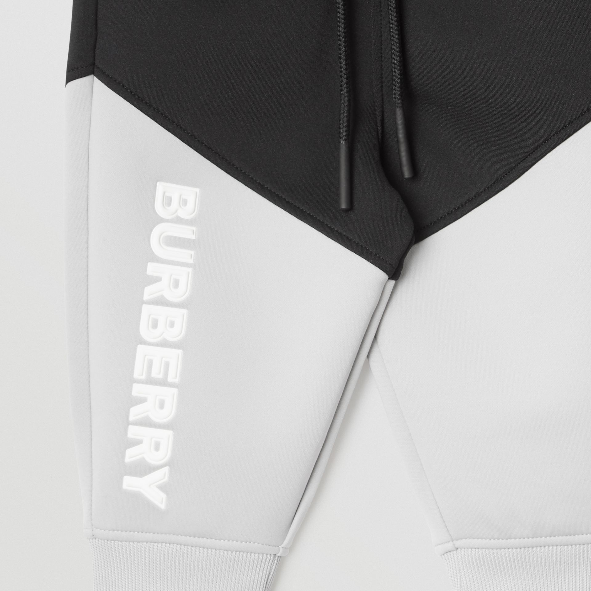 Logo Print Two-tone Stretch Jersey Trackpants in Black - Children | Burberry United States - gallery image 4