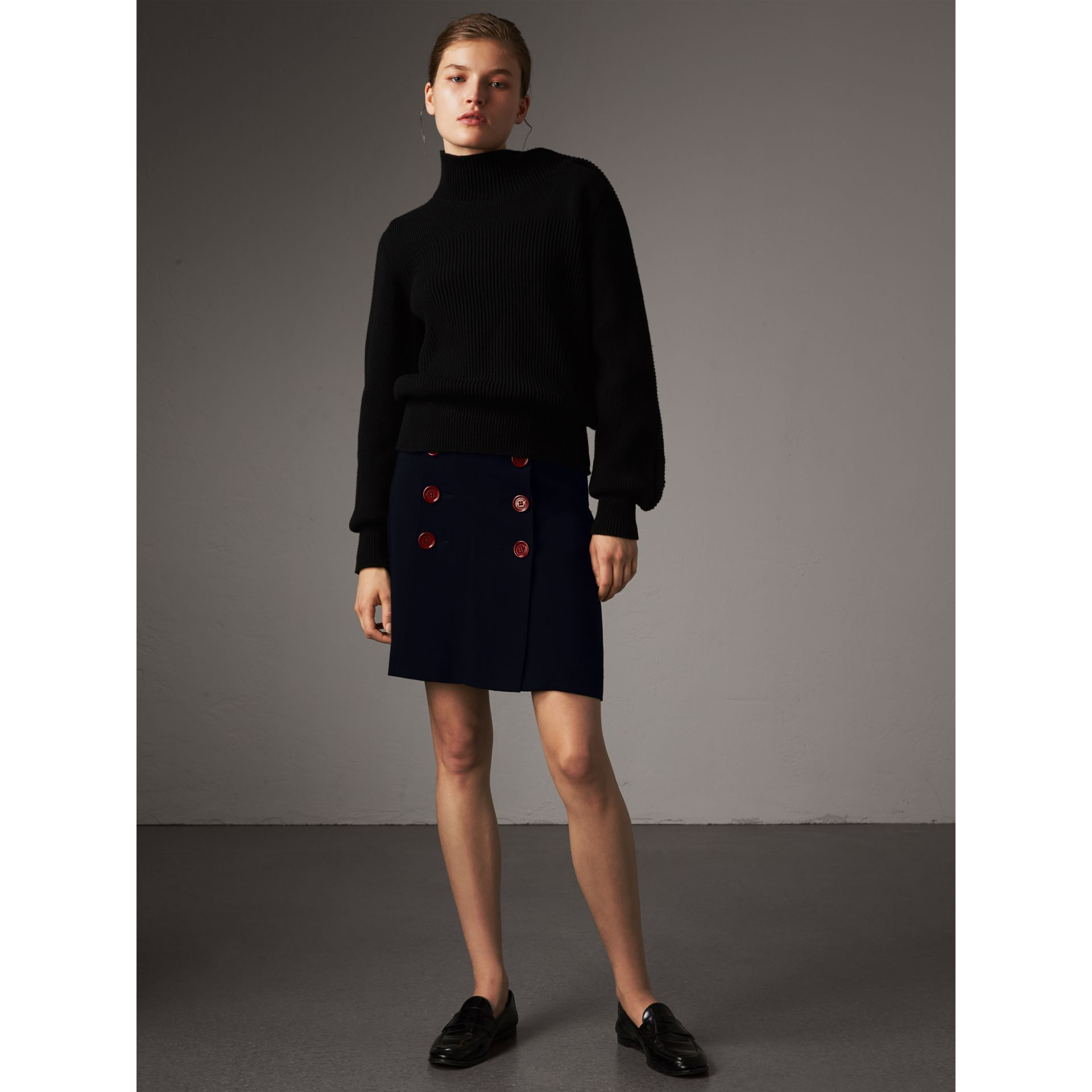 Resin Button Double-breasted Tailored Skirt - Women | Burberry - gallery image 5