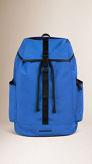 Leather Trim Lightweight Backpack