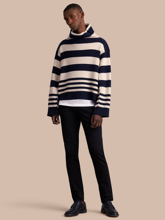 Striped Knitted Cashmere Roll-neck Sweater - Men | Burberry
