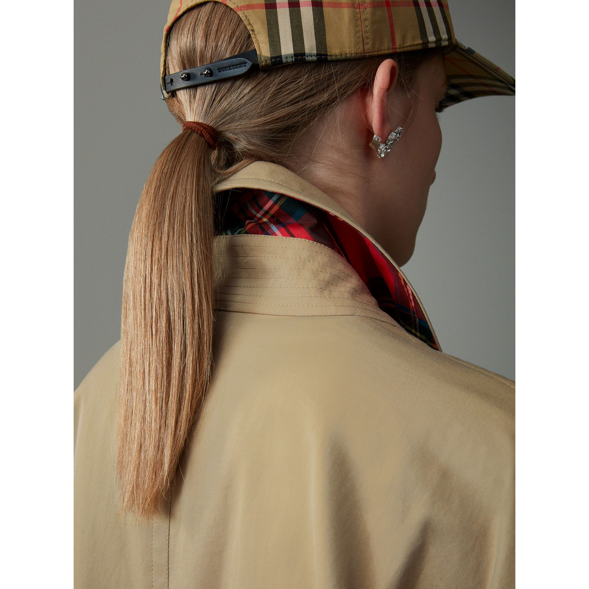 Tropical Gabardine Harrington Jacket in Honey - Women | Burberry - gallery image 4