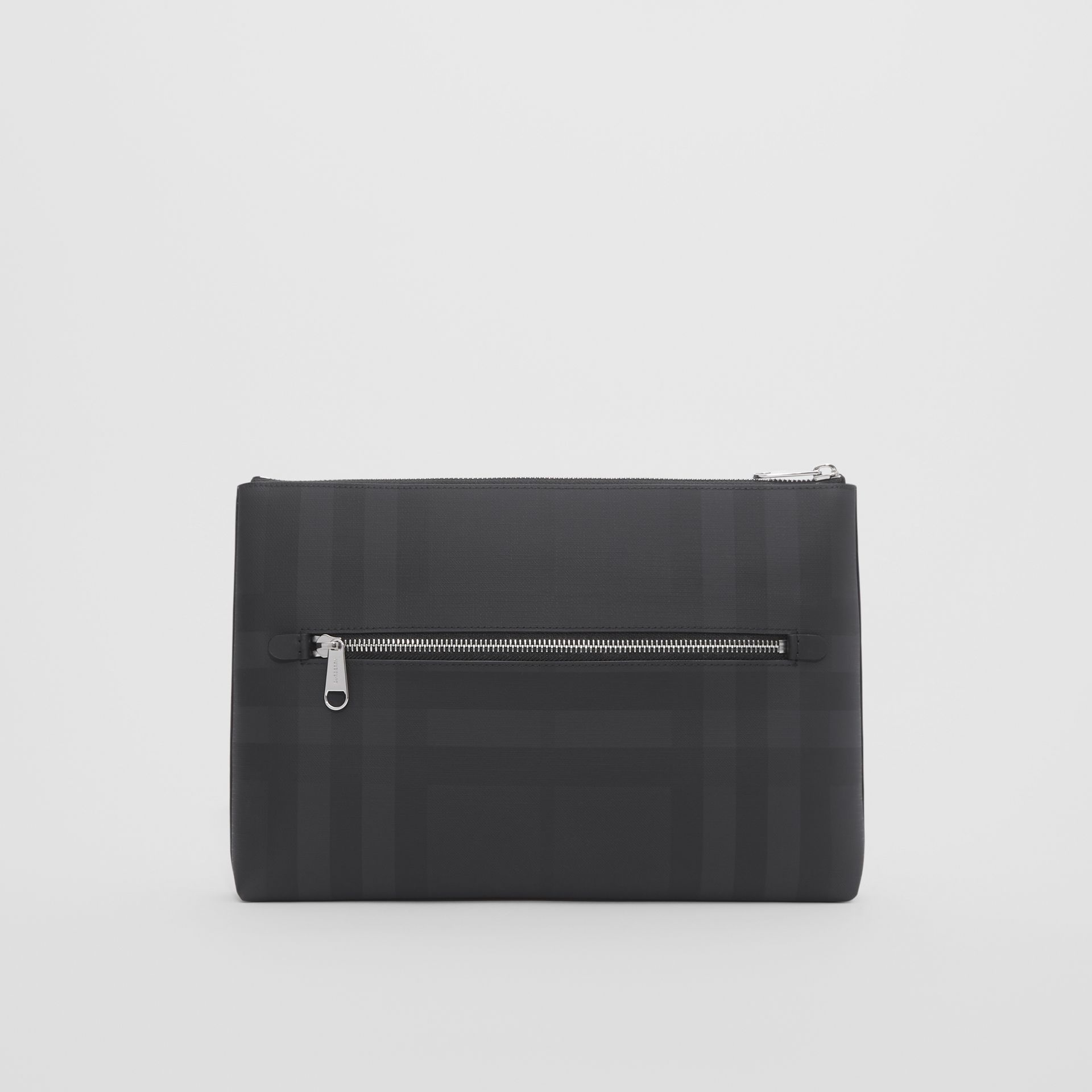 Logo Graphic London Check Zip Pouch in Dark Charcoal - Men | Burberry Hong Kong S.A.R - gallery image 6