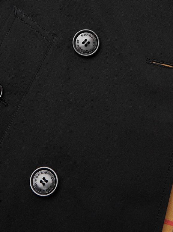 Cotton Gabardine Trench Coat in Black | Burberry - cell image 1