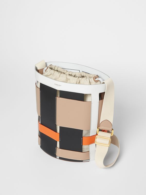 Small Leather Foster Bucket Bag in Honey - Women | Burberry - cell image 3