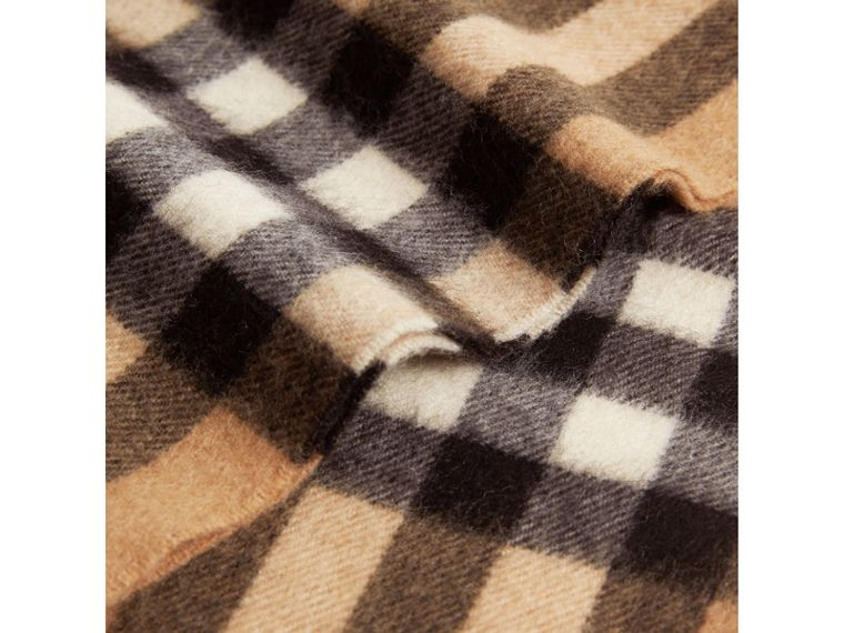 Exploded Check Cashmere Snood in Camel | Burberry Australia - cell image 1