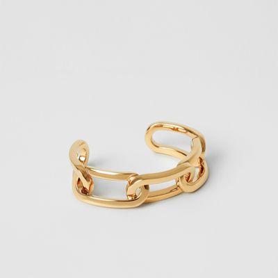 Gold Plated Link Cuff by Burberry