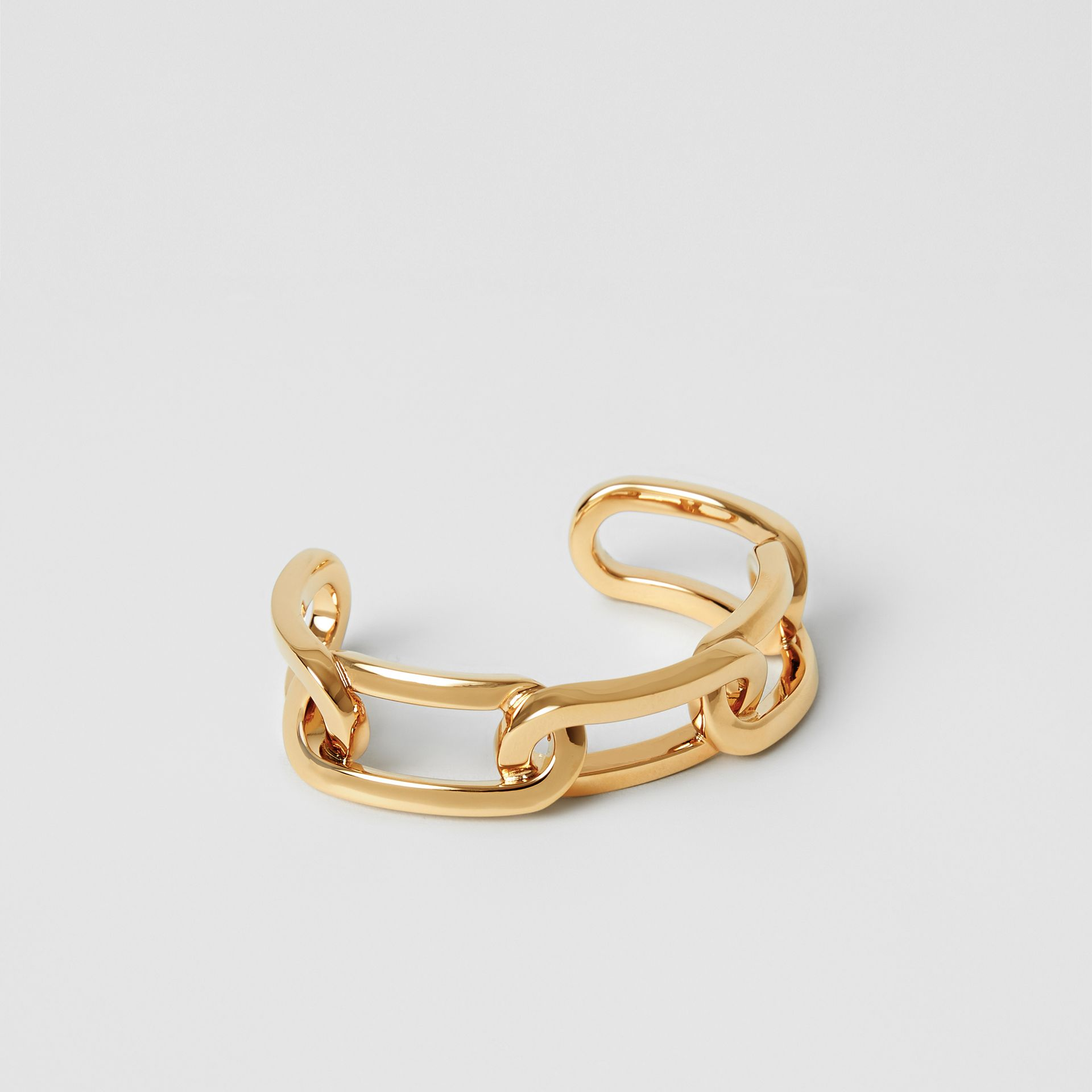 Gold-plated Link Cuff in Light - Women | Burberry - gallery image 0