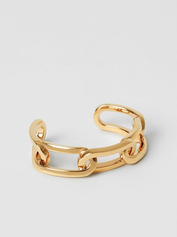Gold-plated Link Cuff in Light