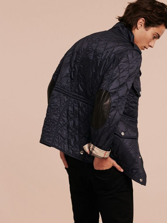 Diamond Quilted Field Jacket Navy - cell image 2