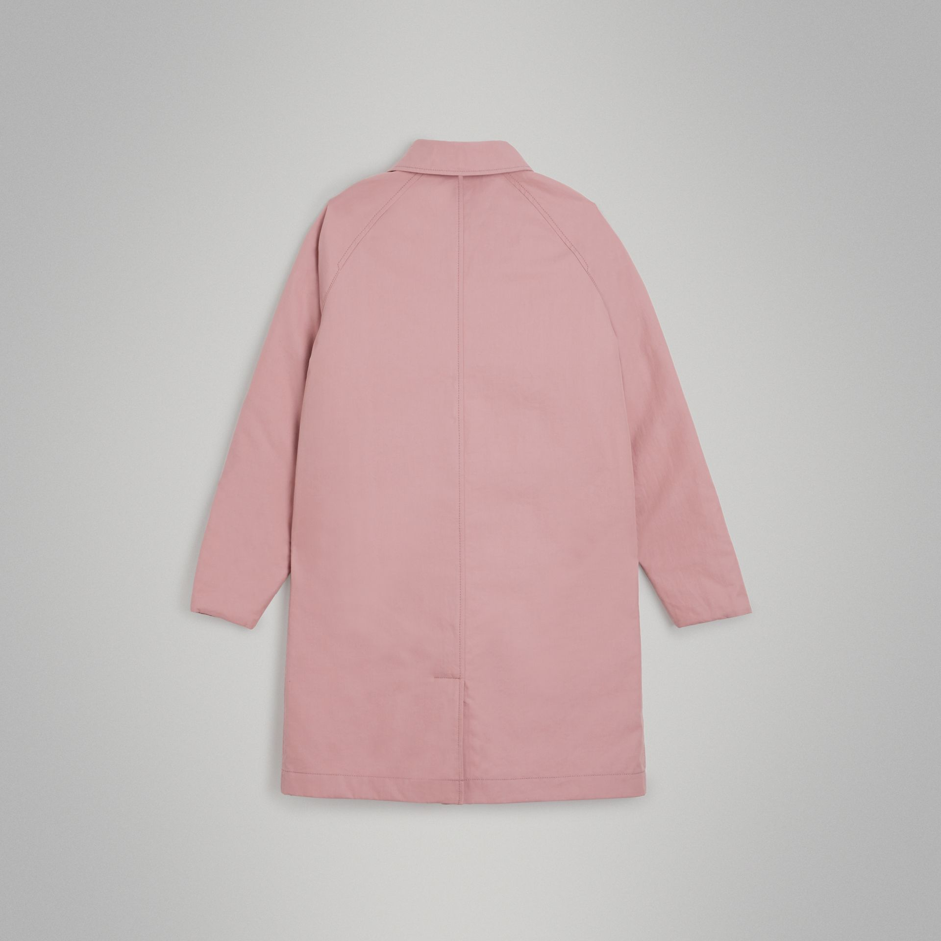 Reversible Tropical Gabardine Car Coat in Chalk Pink | Burberry - gallery image 4