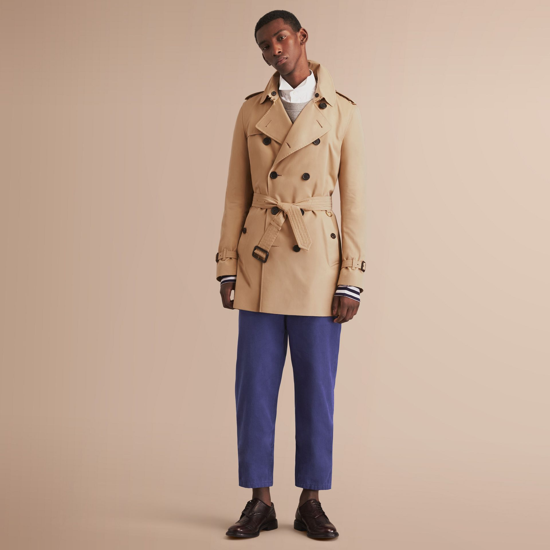 The Kensington – Mid-Length Heritage Trench Coat in Honey - gallery image 7