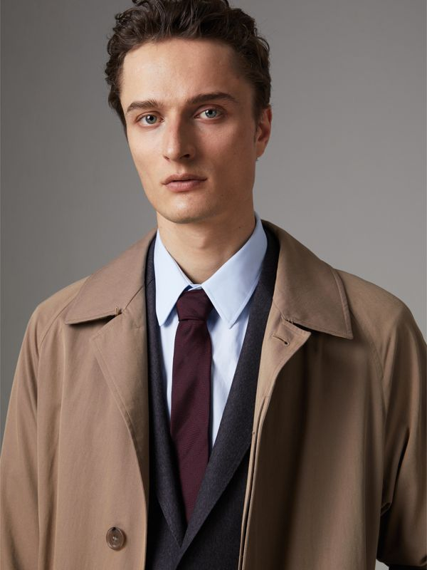 Modern Cut Check Silk Tie in Deep Claret - Men | Burberry Singapore - cell image 2
