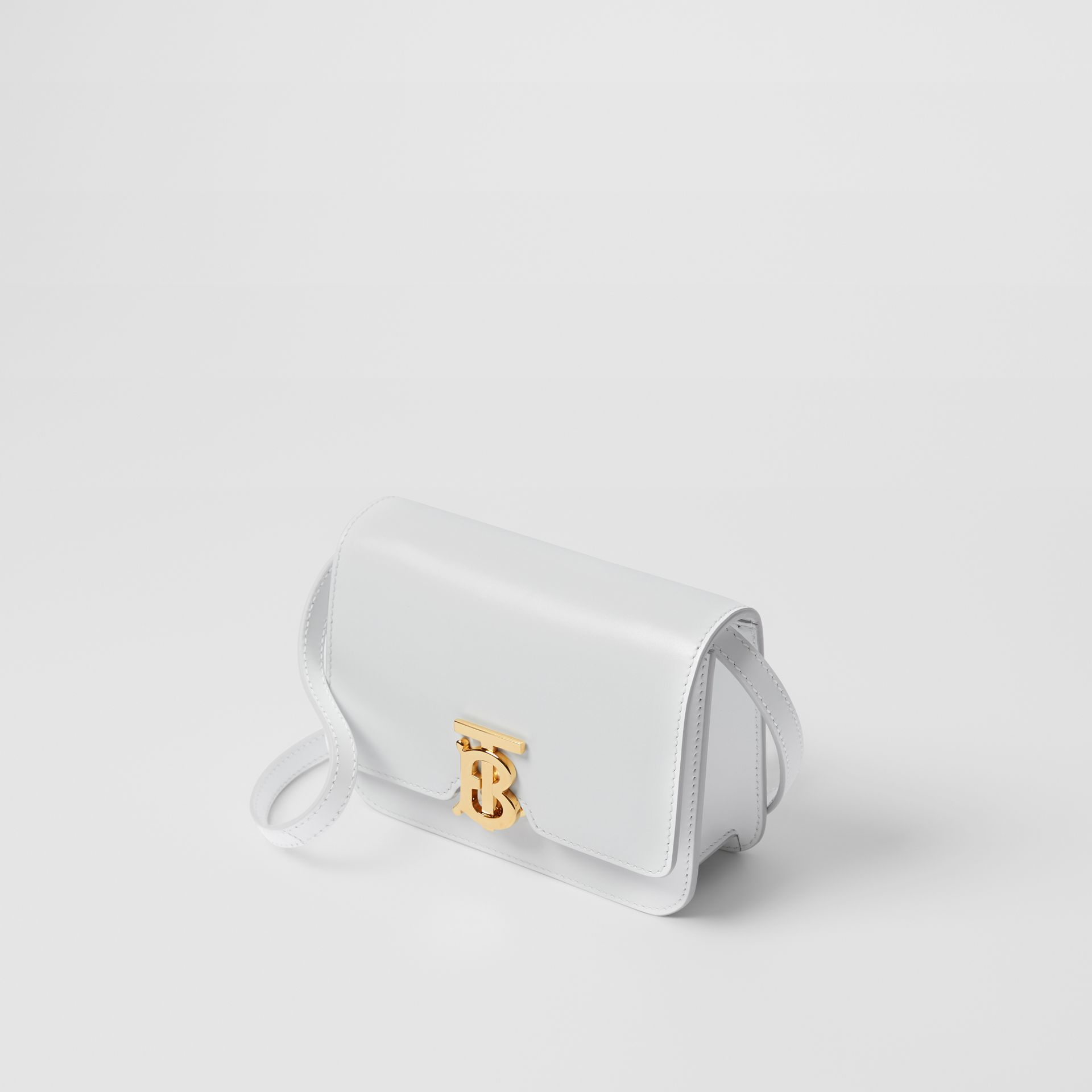 Mini Leather TB Bag in Optic White - Women | Burberry - gallery image 2