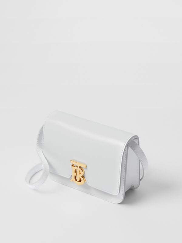 Mini Leather TB Bag in Optic White - Women | Burberry - cell image 2